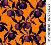 watercolor seamless pattern... | Shutterstock . vector #1073423129