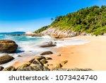 beach in balneario camboriu ... | Shutterstock . vector #1073424740