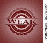 weak retro style red emblem | Shutterstock .eps vector #1073427854