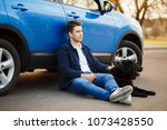 young handsome man in... | Shutterstock . vector #1073428550