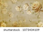chinese rose in the background. ... | Shutterstock . vector #1073434109
