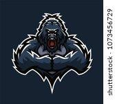 gorilla esport gaming mascot... | Shutterstock .eps vector #1073456729