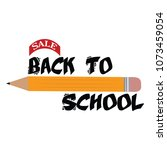 back to school | Shutterstock .eps vector #1073459054