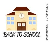 back to school | Shutterstock .eps vector #1073459378