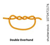double overhand sea knot.... | Shutterstock .eps vector #1073472176