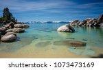 sand harbor at lake tahoe north ... | Shutterstock . vector #1073473169