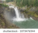 snoqualmie falls is a 268 foot  ... | Shutterstock . vector #1073476544