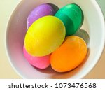 easter eggs are decorated eggs... | Shutterstock . vector #1073476568
