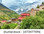 scenic view of keylong village  ... | Shutterstock . vector #1073477096