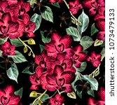 beautiful watercolor pattern... | Shutterstock . vector #1073479133