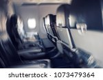 Small photo of aerophobias concept. Blurred image of commercial plane moving fast downwards. Fear of flying. collapse slump depression downfall debacle, subsidence trip. turbidity of consciousness during seasickness