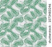 seamless pattern coconut tree... | Shutterstock .eps vector #1073483246