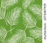 coconut leaves pattern... | Shutterstock .eps vector #1073487959