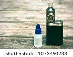 e   cigarette for vaping  ... | Shutterstock . vector #1073490233