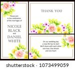 romantic invitation. wedding ... | Shutterstock .eps vector #1073499059