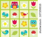 seamless vector pattern with... | Shutterstock .eps vector #107350010
