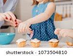children with their hands... | Shutterstock . vector #1073504810