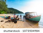 cambodian people working at... | Shutterstock . vector #1073504984