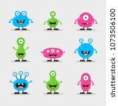 cool  fun  cute creature  ...   Shutterstock .eps vector #1073506100