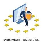 gdpr  rgpd  dsgvo concept...   Shutterstock .eps vector #1073512433