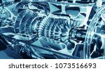 turbine engine profile.... | Shutterstock . vector #1073516693