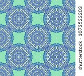damask seamless pattern. ethnic ... | Shutterstock .eps vector #1073523203