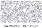 notebook doodle clip art design ... | Shutterstock .eps vector #107354864