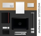 corporate identity mock up... | Shutterstock .eps vector #1073551544