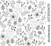 vector seamless floral pattern. ... | Shutterstock .eps vector #1073553470