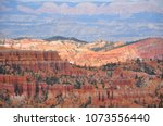 panoramic view the bryce canyon ... | Shutterstock . vector #1073556440