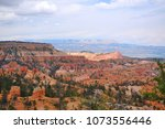 panoramic view the bryce canyon ... | Shutterstock . vector #1073556446