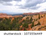 panoramic view the bryce canyon ... | Shutterstock . vector #1073556449