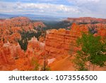 panoramic view the bryce canyon ... | Shutterstock . vector #1073556500