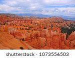 panoramic view the bryce canyon ... | Shutterstock . vector #1073556503