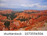panoramic view the bryce canyon ... | Shutterstock . vector #1073556506