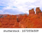 panoramic view the bryce canyon ... | Shutterstock . vector #1073556509