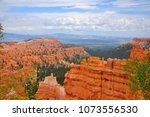 panoramic view the bryce canyon ... | Shutterstock . vector #1073556530