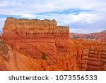 panoramic view the bryce canyon ... | Shutterstock . vector #1073556533