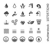 water icons. nature and energy... | Shutterstock .eps vector #1073573240