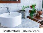 detail of modern interior...   Shutterstock . vector #1073579978