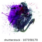 multicolor stain | Shutterstock . vector #107358170