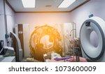maintenance engineer repairing... | Shutterstock . vector #1073600009