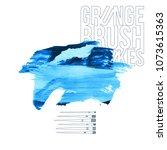 blue brush stroke and texture....   Shutterstock .eps vector #1073615363