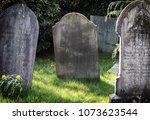 Blank Gravestone In Graveyard....