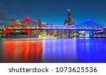 brisbane blue hour | Shutterstock . vector #1073625536