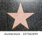 hollywood   june 26  empty star ... | Shutterstock . vector #107362694