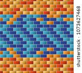 colorful brick wall texture for ... | Shutterstock .eps vector #1073627468