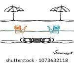 simple hand drawn summer season ... | Shutterstock .eps vector #1073632118