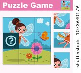 puzzle education game for... | Shutterstock .eps vector #1073640179