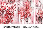 a collection of designer oil... | Shutterstock . vector #1073644853